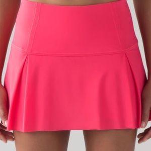 Lululemon Coral Lost Pace Pleated Skirt Sportswear